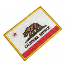 BIN193 Bandeira California Republic Flag embroidery patch bordada militar 10,2x7