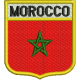BEIN022 Flag Morocco embroidered patch 6.8 x 7.5 cm